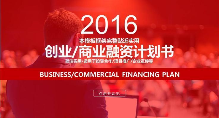 创业商业融资计划书PPT模板