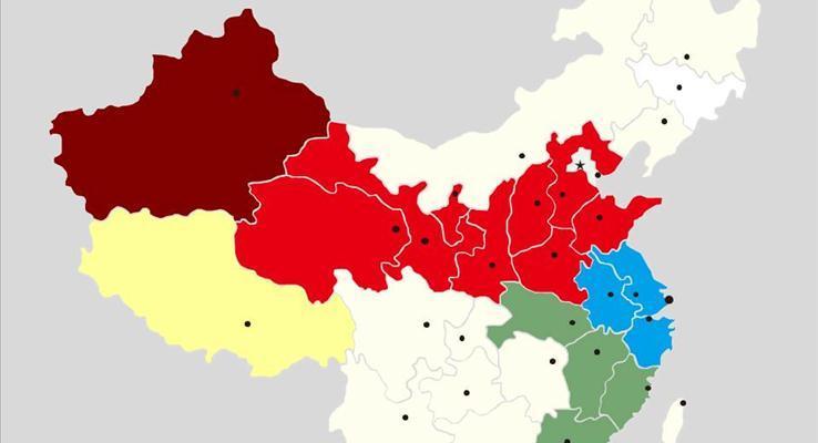 中国各省市地图的PPT资源(可以改颜色)
