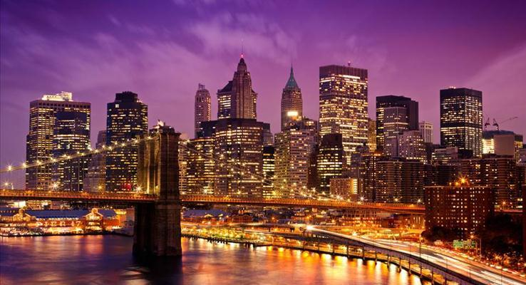都市夜静PPT素材
