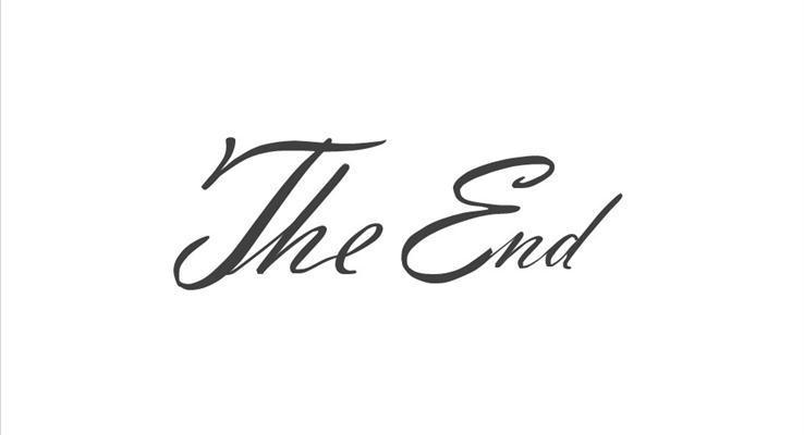 英文花纹体PPT结束动画完美结束PPT模板