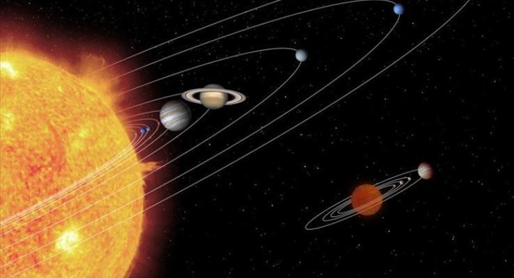 九大行星科技PPT背景图片