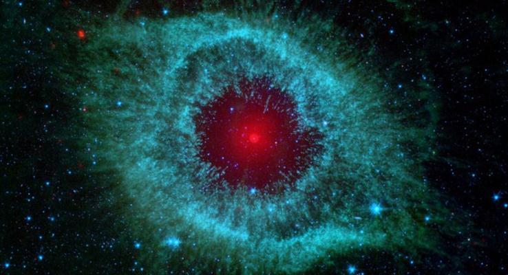 上帝的瞳孔炫彩PPT背景图片
