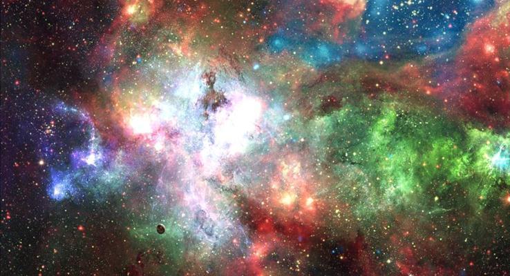 美的让人窒息的璀璨星空炫彩PPT背景图片
