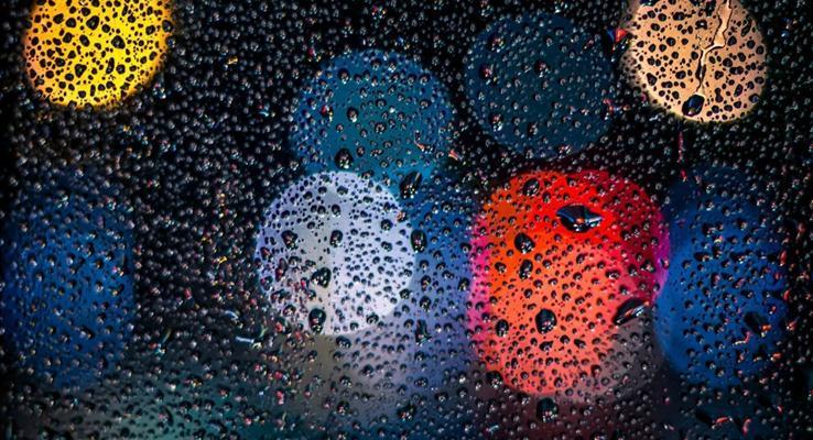 多彩光圈雨玻璃IOSPPT背景