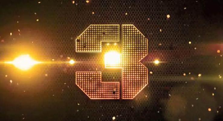 金色粒子霸气震撼10秒倒计时PPT模板