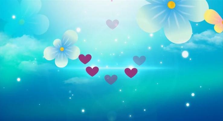 特效动画浪漫爱情PPT模板