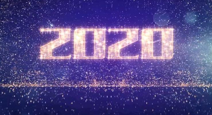 特效动画新年祝福贺卡PPT模板